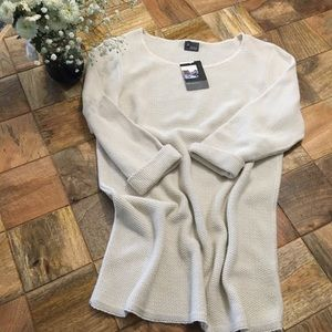 NWT Urban Outfitters cream cuff sleeve sweater
